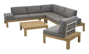 4 Seasons Outdoor Mistral teak louncheset met mistral loungestoel