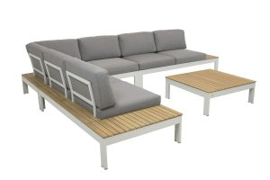 4 Seasons Outdoor mistral seashell platform loungeset