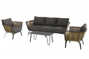 4 Seasons Outdoor Antibes loungeset stoel-bank-tafel cool bijzettafel