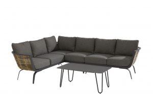 4 Seasons Outdoor Antibes hoekbank loungeset met cool bijzettafel antraciet