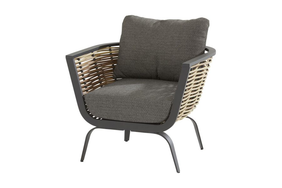 4 Seasons Outdoor antibes loungestoel wicker vlechtwerk