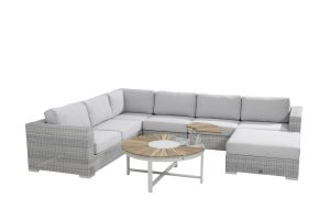 4 Seasons Outdoor Lucca hoekbank met loungestoel