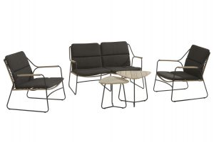 4 Seasons Outdoor Scandic loungeset stoel-bank-tafel loungeset axel bijzettafel