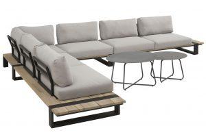 4 Seasons Outdoor Duke loungeset hoekbank platform loungeset met Dali bijzettafels