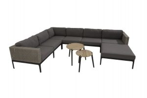 4 Seasons Outdoor Triana hoekbank louncheset loungeset met 4 Seasons Outdoor Triana voetenbank