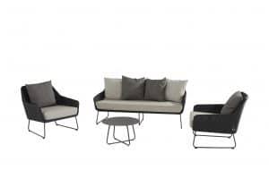 4 Seasons Outdoor Avila loungeset stoel-bank-loungeset met Dali tafel 58 x 35 cm