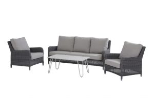 4 Seasons Outdoor indigo rock loungeset cool bijzettafel 110x59x45