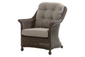 4 Seasons Outdoor Madoera loungestoel. 4 Seasons Outdoor tuin fauteuil