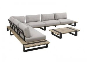 4 Seasons Outdoor Duke loungeset hoekbank met 4 Seasons Outdoor duke bijzettafel