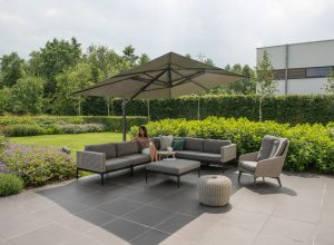 4 Seasons Outdoor Triana loungeset hoekbank met 4 Seasons Outdoor luxor loungestoel
