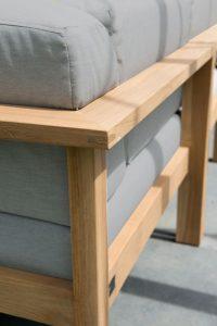 4 Seasons Outdoor Lido modulaire loungeset hoekbank teak armleunigen