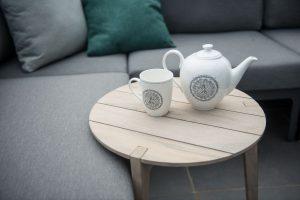4 Seasons Outdoor Triana loungeset met gabor bijzettafel van teak hout