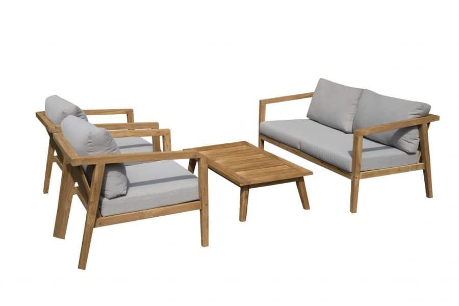 Exotan Lucca loungeset stoel-bank-tafel loungeset