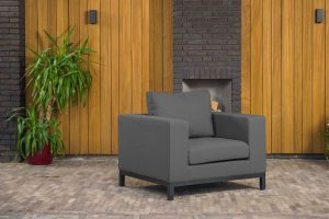 Flow square loungestoel sooty