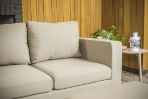 Flow square loungebank taupe