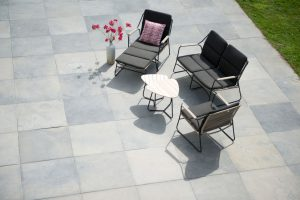 4 Seasons Outdoor Scandic loungeset stoel-bank-tafel loungeset teak bijzettafel