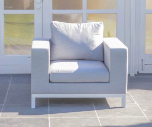 Square tuin loungestoel wit