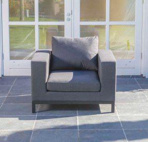 Square tuin loungestoel grijs
