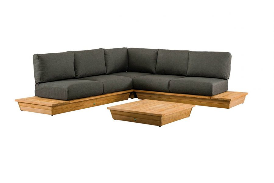 Suns isla 5 persoon hoekbank loungeset platform loungeset