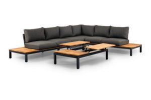Suns memphis platform loungeset 6 personen hoekbank loungeset 6-zits