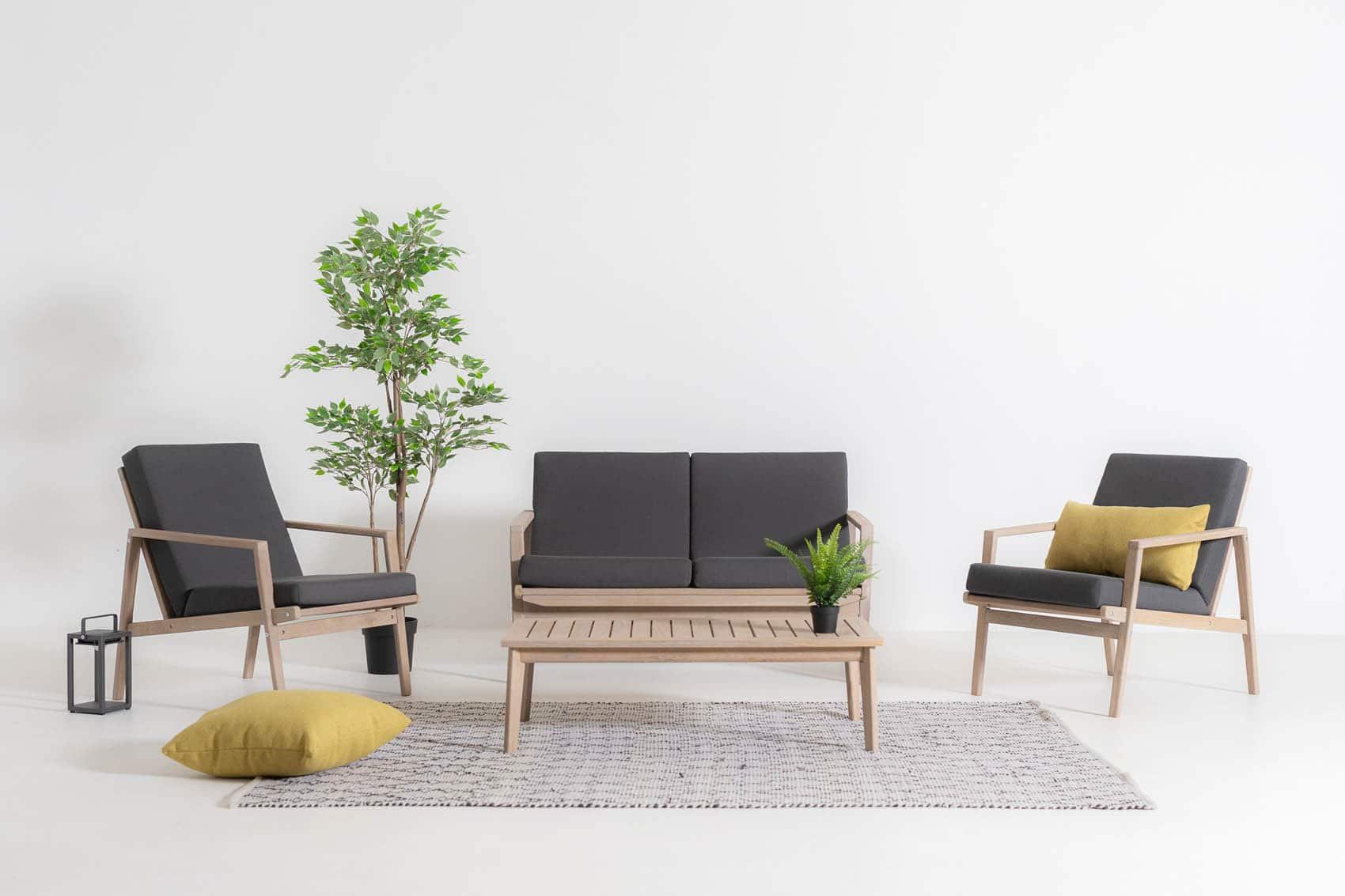 Stoel - bank - tafel loungeset